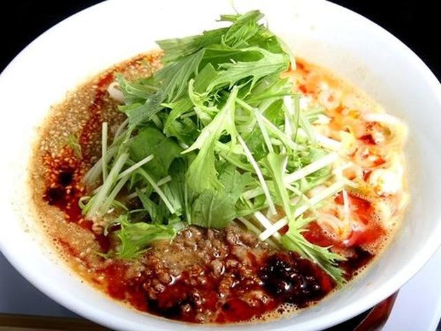 画像: 「麻辣担々麺」(マーラータンタンメン)。練り胡麻を使った濃厚スープが麺に絡みます。肉味噌も旨し。辛さが小、中、大、激あり。