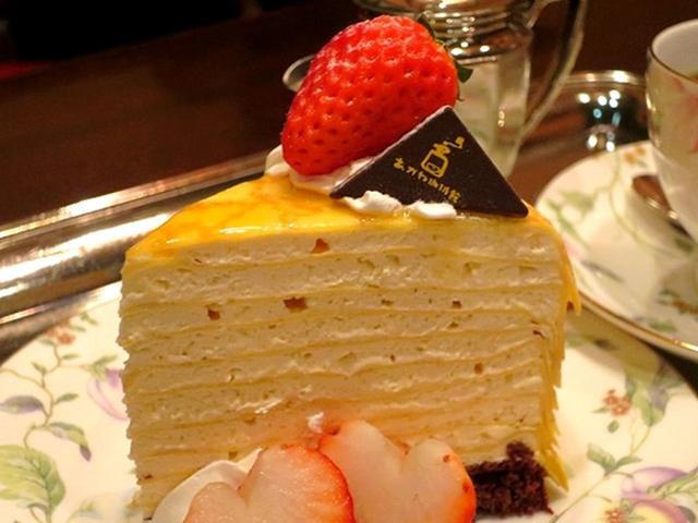 画像: ケーキの種類は常に変わったりもしますが、今回は「ミルクレープ」安定感のある美味しさと、王道の味わいです。