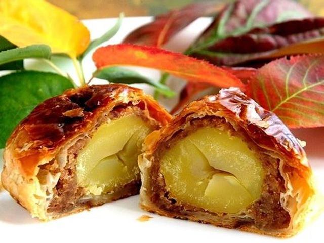 画像: ナチュラルな素材の組合せで栗本来の美味しさを最大限に引き出したマロンパイ。新しい秋の味覚です。