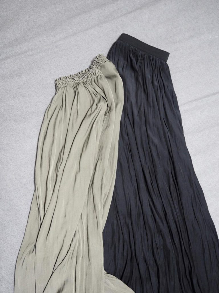 画像: [右]ロングスカート:AP STUDIO(本人私物) [左]パンツ:BEAUTY&YOUTH(本人私物)