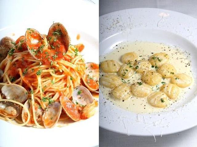 画像: 「あさりのトマトソーススパゲッティ」など、さまざまなメニューを味わえます。