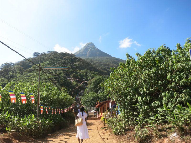 画像: 下山後に振り返って眺めるスリー・パーダ