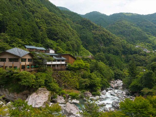 画像: 17:30 中津渓谷散策に便利な温泉宿 中津渓谷 ゆの森に宿泊