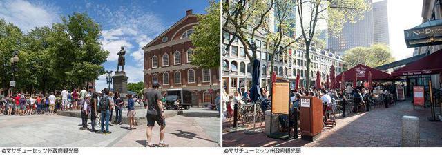 画像: 1713年に建設されたボストン最古の公共建築 「旧マサチューセッツ州会議事堂」へ