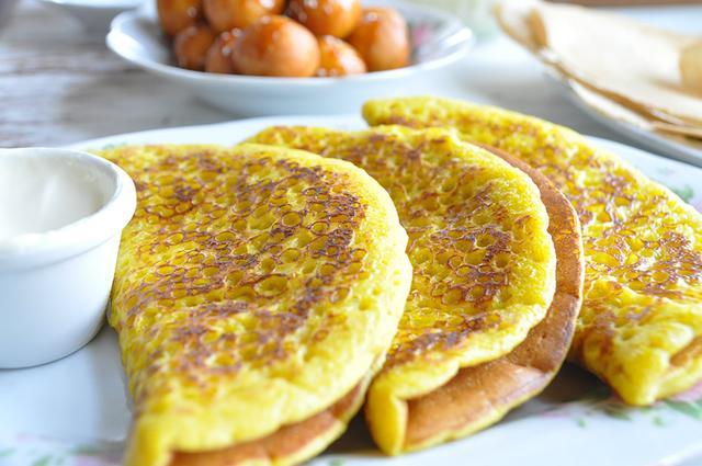 画像: 遊牧民スタイルのパンケーキ、「チャバブ」