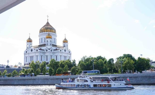 画像: モスクワ川クルーズ
