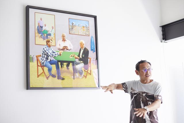 画像: オフィスに展示されているアート作品。眺めているとビジネスのアイデアが浮かぶこともあると言う