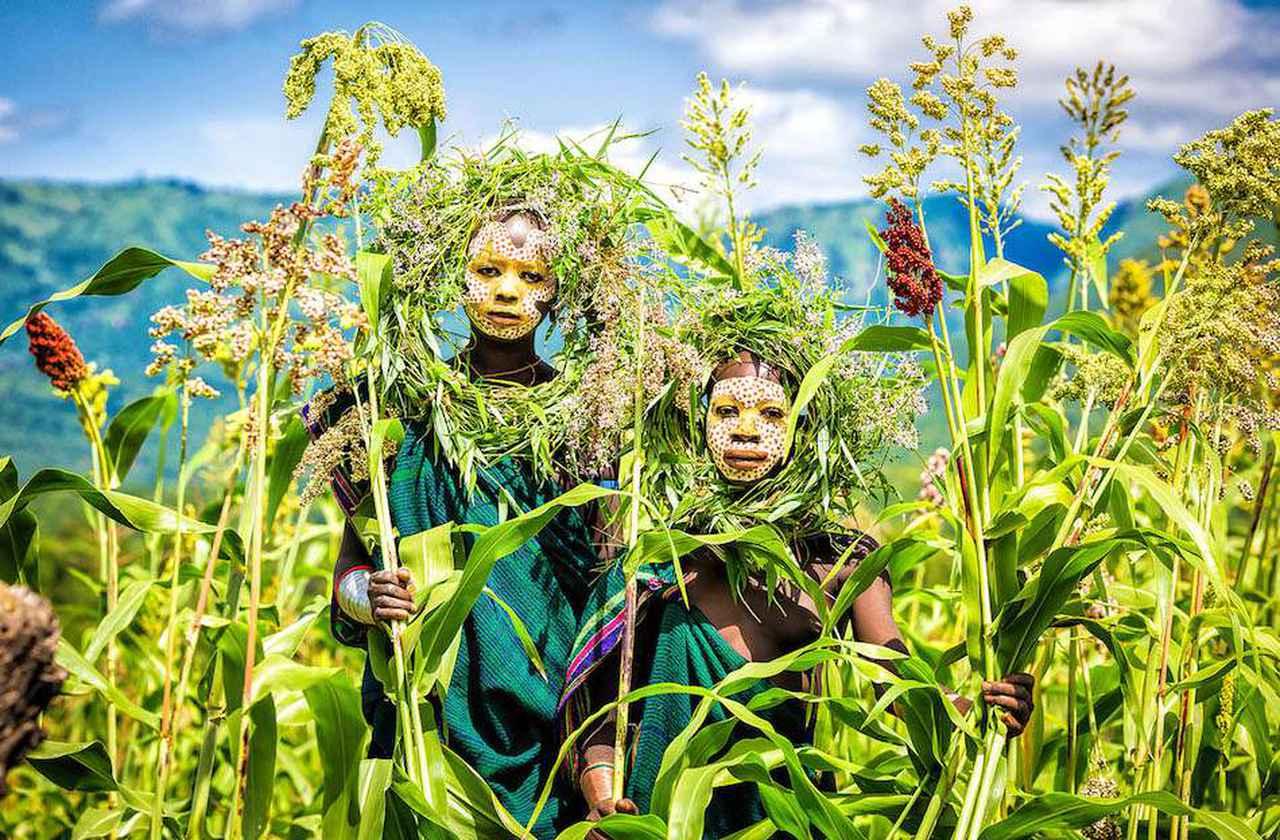 画像: エチオピアの少数民族「スリ族」(nagi yoshida、2014年)