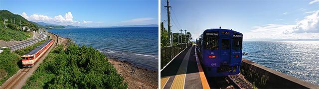 画像: ※画像 左:川棚町 小音琴郷付近⑦ 右:JR千綿駅 ホーム⑧