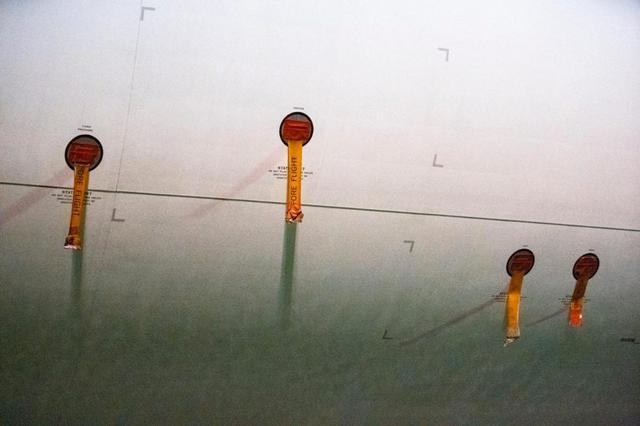 画像: 機体のセンサー類などに施されたマスキング