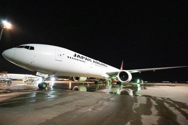 画像1: 巨大な飛行機に対し、洗う道具は手持ちのモップ
