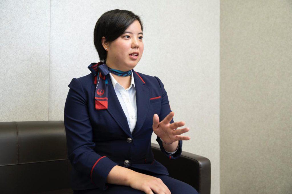 画像: 羽田事業所空港オペレーション第3部国内パッセンジャーサービスグループ 横川奈緒子