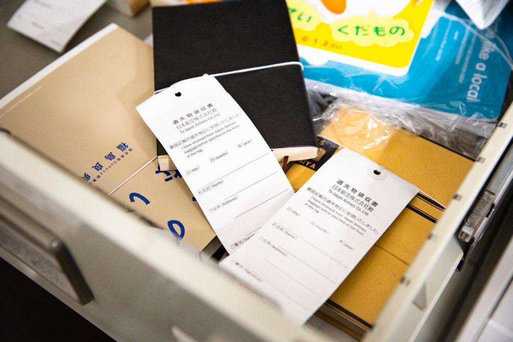 画像: お客さまのお忘れ物を、日別の保管庫で保管