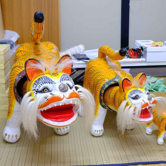 画像: 「田井民芸」張子虎。実際の製作を見るため、工房へお邪魔します。