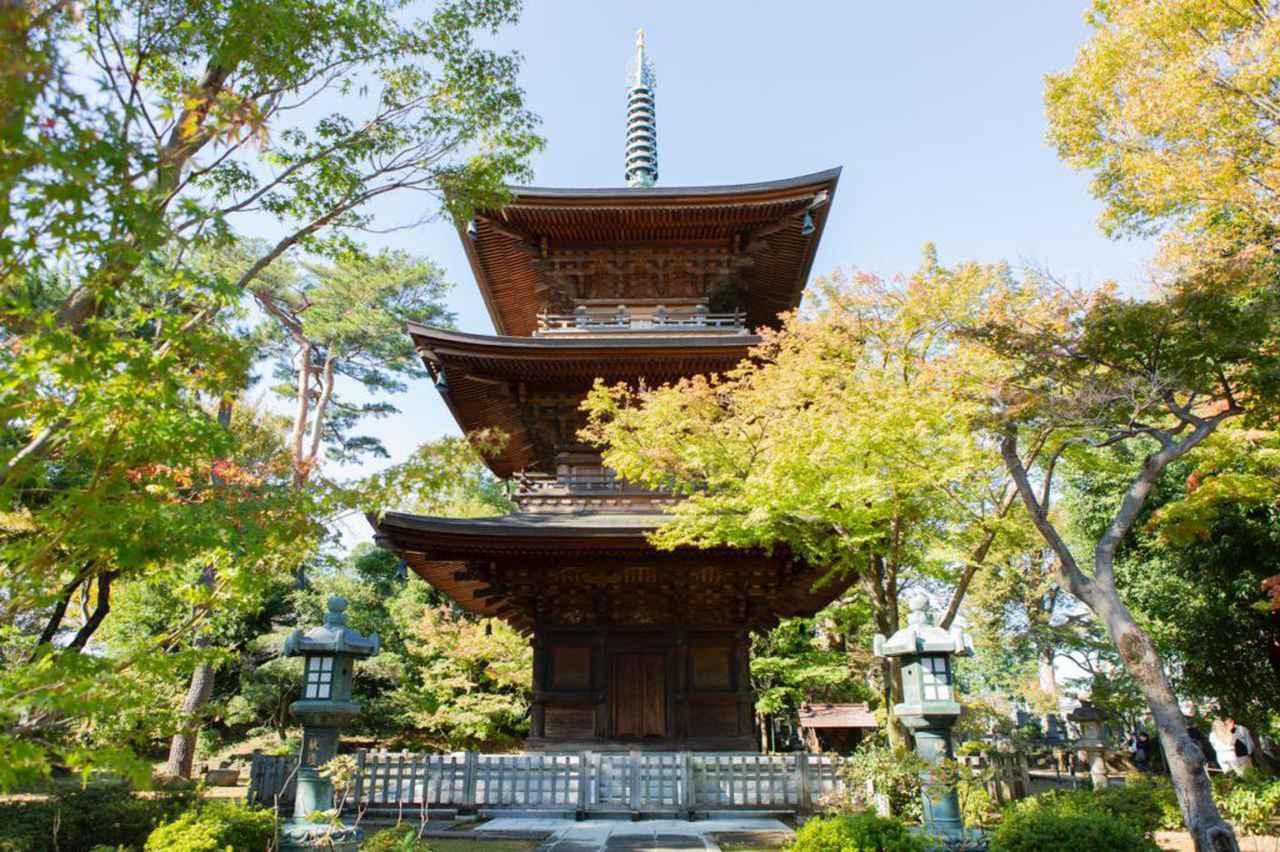 画像: 平成18年(2006年)に造られた三重塔。