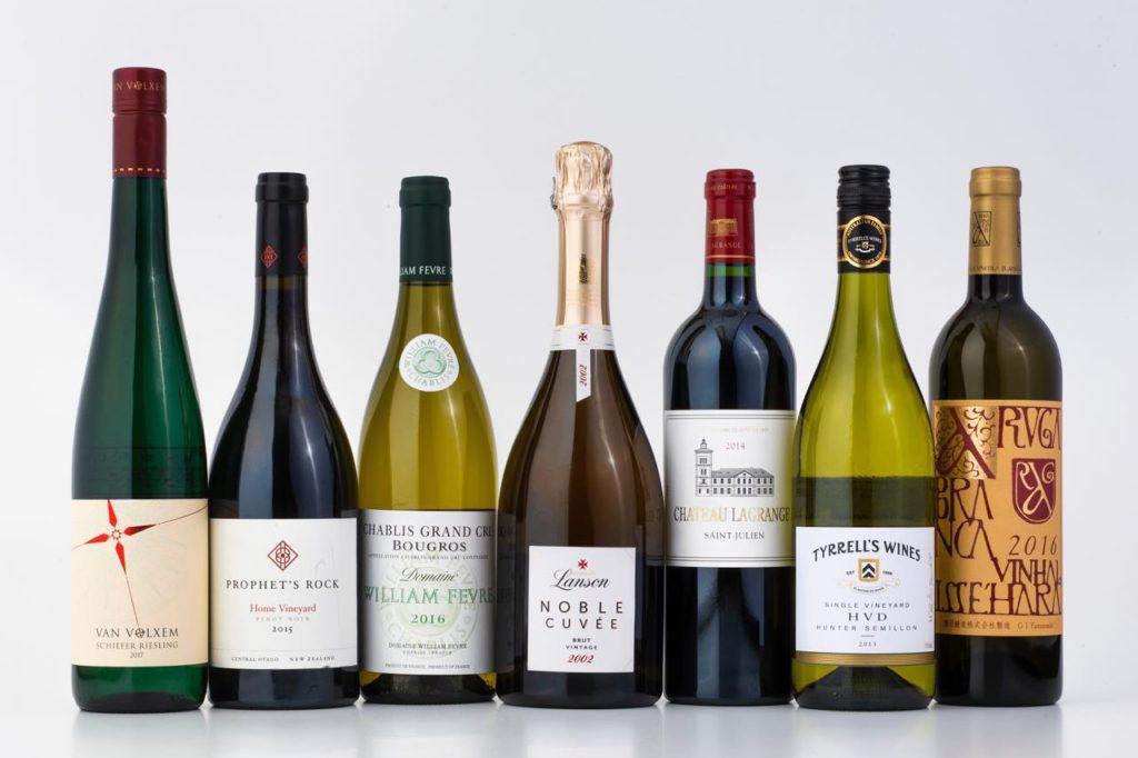 画像: 2019年9月〜2020年2月のファーストクラスワインセレクション。