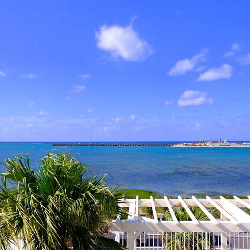 画像: 見晴らし抜群。目の前の海もとてもキレイでした。