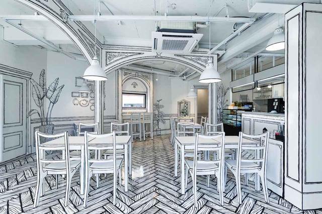 画像2: 【弘大】目の錯覚が楽しい不思議なカフェ、CAFE延南洞223-14