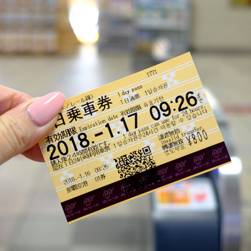 画像: チケットは券売機で購入。2日券もあります。