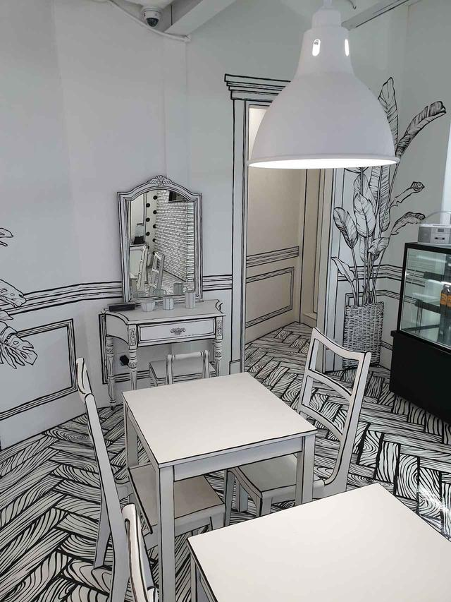 画像1: 【弘大】目の錯覚が楽しい不思議なカフェ、CAFE延南洞223-14