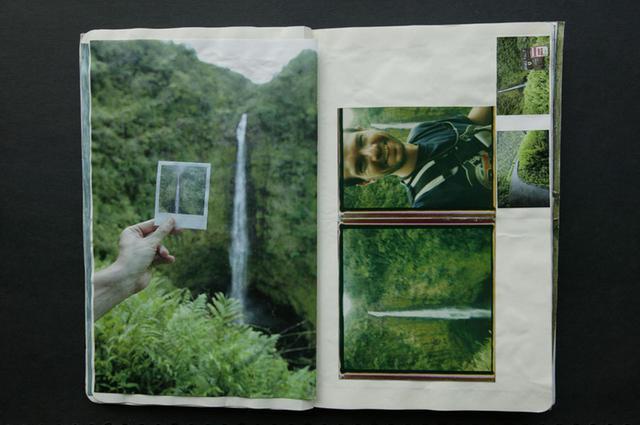 画像: イチャソさんの旅日記の1ページ。ポラロイドカメラの写真を写り込ませることで、個性的な写真に仕上がっている