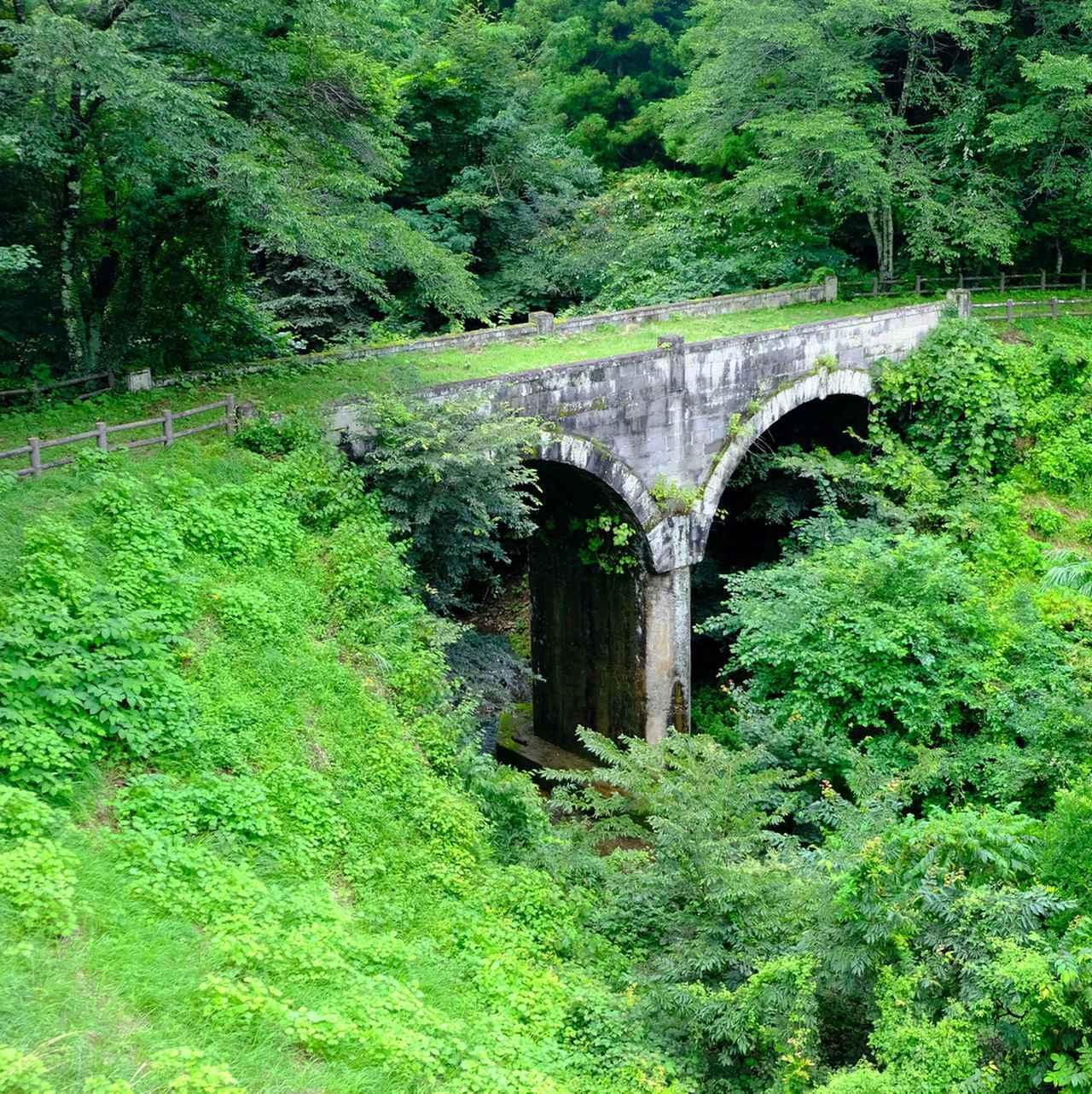 画像: かつて使われていた石橋。旧道だったそうですが、今はすっかり自然に溶け込んでいます。
