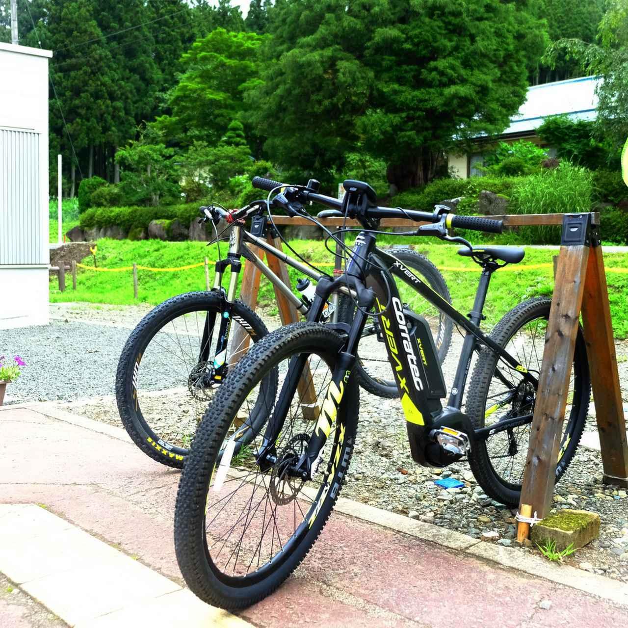 画像: 秋保エリアでeBike(電動アシスト付きマウンテンバイク)を使ったサイクルツアーに参加します。