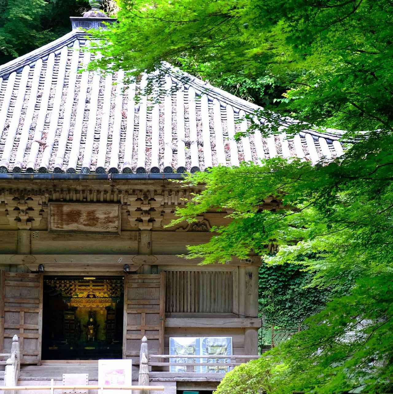 画像: 中には霊屋があり、外から見てもその煌びやかさ、豪華さが伝わってきます。