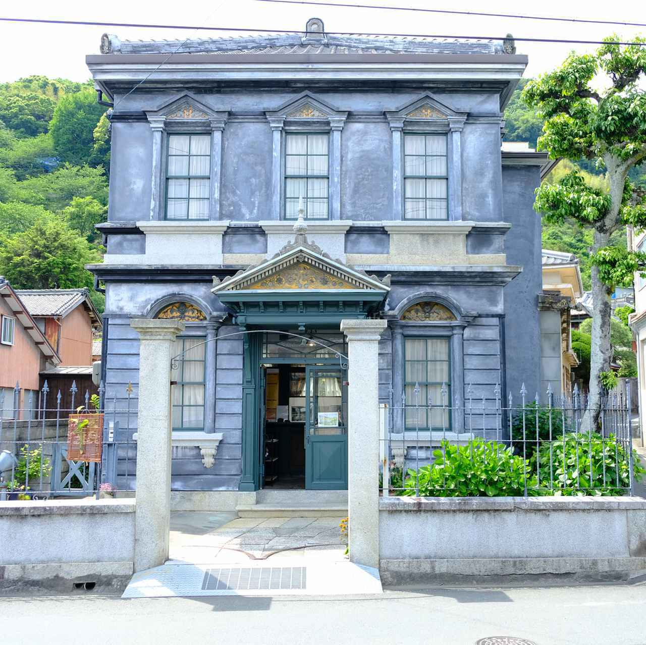 画像: 旧白石和太郎邸。紡績工場や大峰銅山の鉱山経営で財を成した白石和太郎の洋館です。