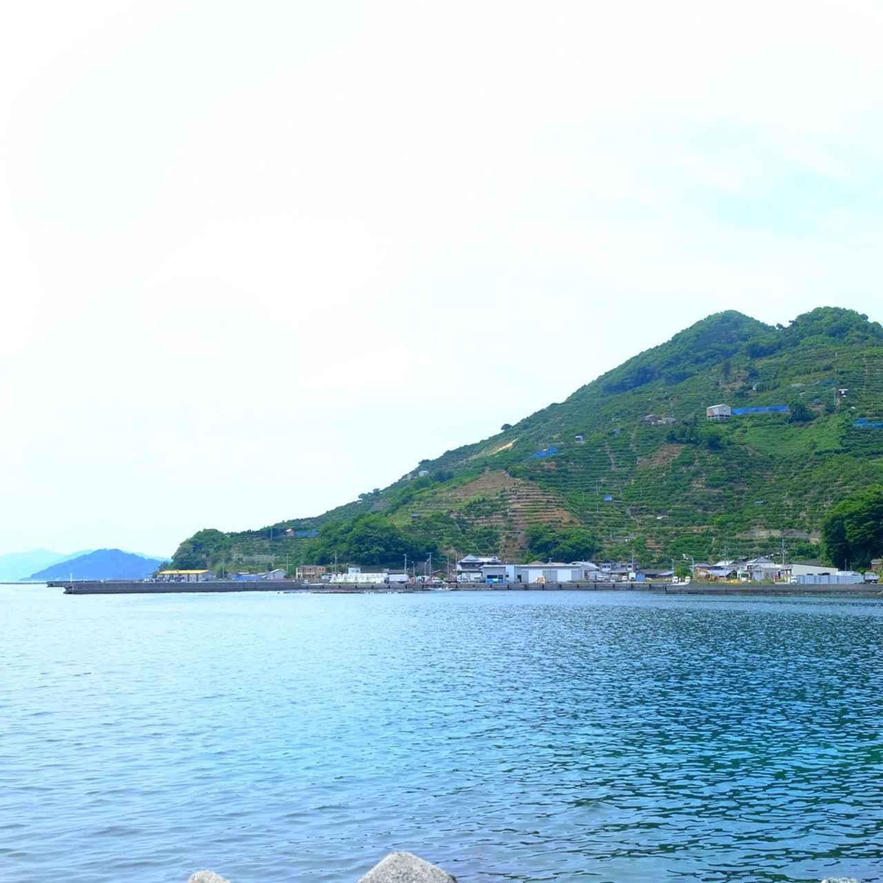 画像: 遠目に見るとこんな感じです。海はきれいだし緑は濃くて癒される景色でした。