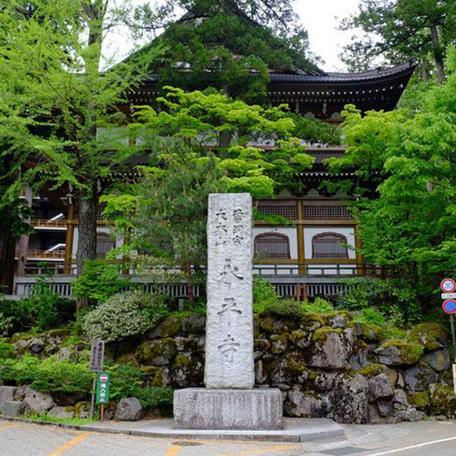 画像: 永平寺に到着しました。バス停からここまでは徒歩5~6分くらい。