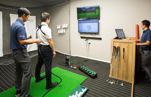 画像2: フライト前にゴルフデビュー。最新設備のスタジオが併設する GDO Golfers LINKS -HANEDA-