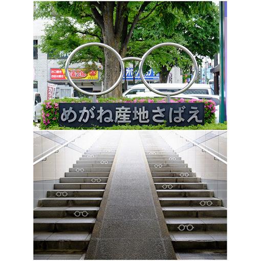 画像: 実は駅にもモニュメントがあるんです!駅階段と駅前ロータリー。