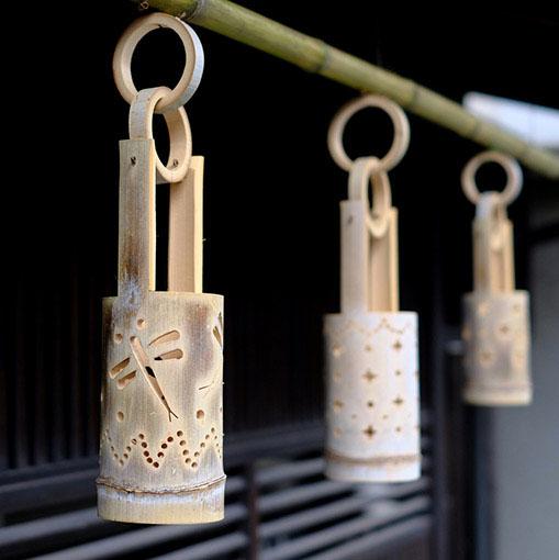 画像: 竹細工や竹飾りもあり、和の雰囲気に整えられています。竹の街・竹原として竹を使った灯りのイベントなども開催されているとのこと。