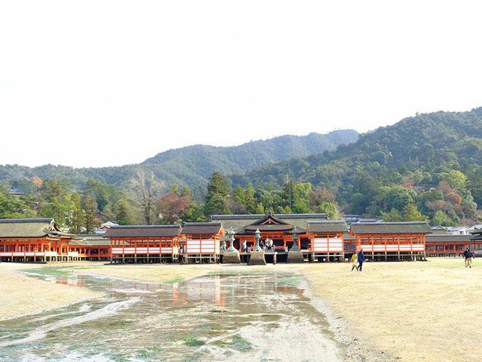 画像: 海側から神社を見られるのも干潮の時間帯だけ。