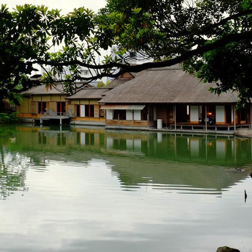 画像: もう一度福井に行くことがあったら必ず立ち寄ろうと決めていた「養浩館庭園」。池の中に浮かぶお座敷は福井藩主松平家の別邸。