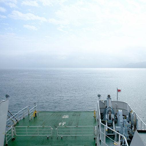 画像: そして乗船。少し晴れてきましたよーー。