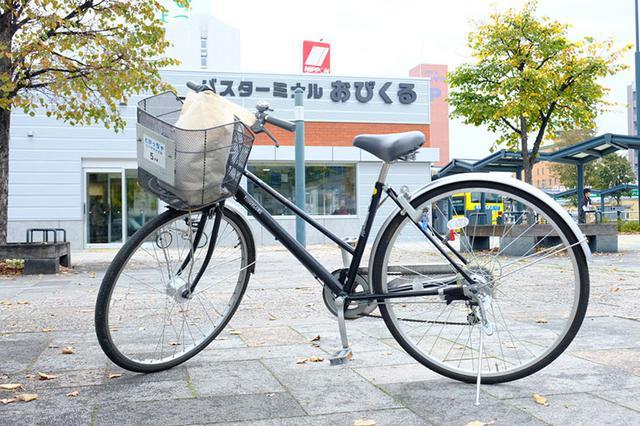 画像: この日のMy自転車。利用時間分を前払い、しかし戻した時間が支払った分より短ければ返金してもらえるシステム。料金も1時間100円とかなりリーズナブル!