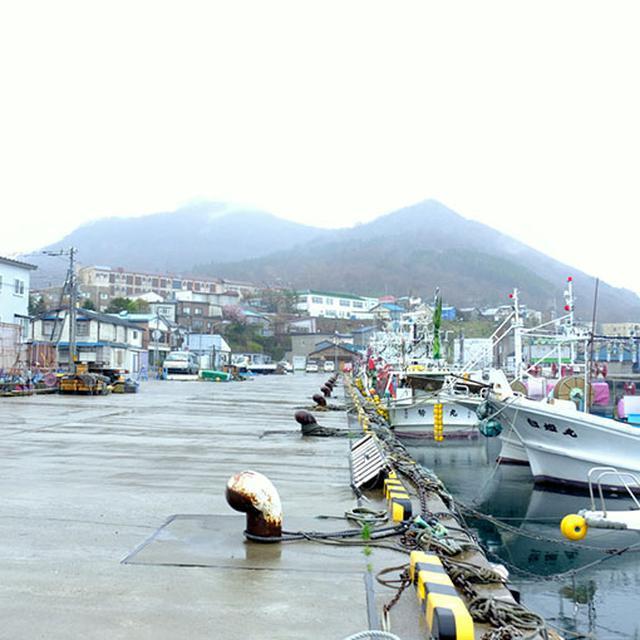 画像: 雨でした。港は仕事を終えたのかとても静かでした。