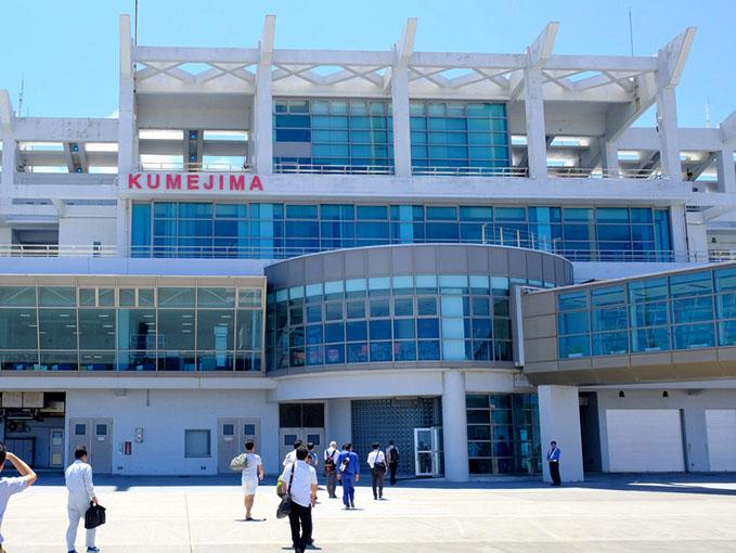 画像: 久米島空港、快晴!いよいよ旅が始まりますー。