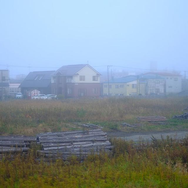 画像: 出発する時刻になると釧路は急に霧に包まれました。