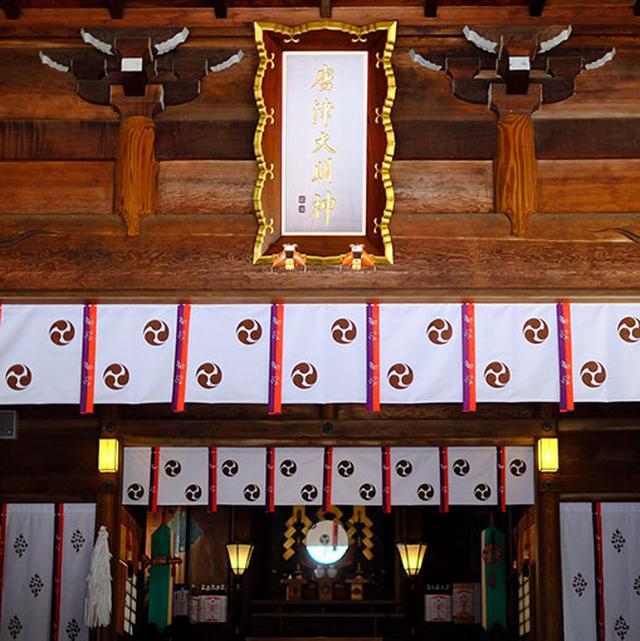 画像: 「唐津神社」と名乗り始めたのは実は明治時代から。それまではどういう名前だったのか、定かではないのだそう。