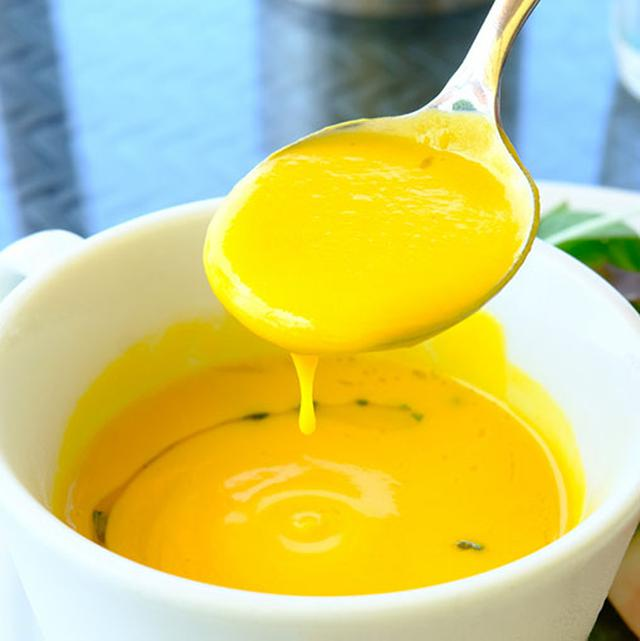 画像: 濃厚な冷製かぼちゃスープでした。