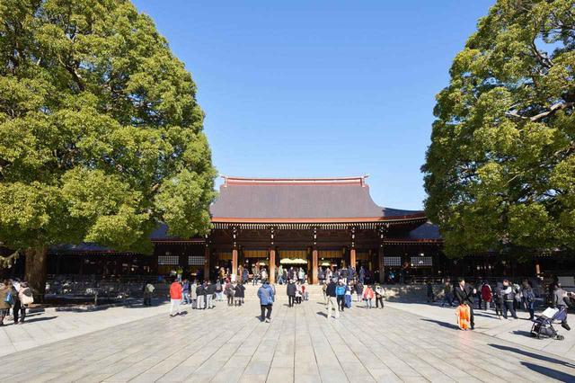 画像: 明治天皇と昭憲皇太后が祀られている本殿