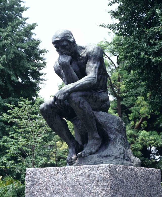 画像: オーギュスト・ロダン『考える人(拡大作)』1881-82年(原型)、1902-03年(拡大)、1926年(鋳造) ブロンズ 国立西洋美術館 松方コレクション