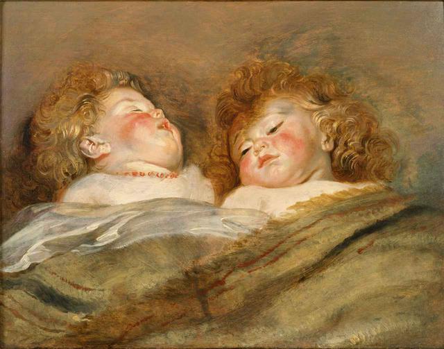 画像: ペーテル・パウル・ルーベンス『眠る二人の子ども』1612-13年頃 油彩、板 国立西洋美術館