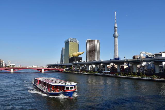 画像: A-2「水上バス」で隅田川から東京の景色をじっくり堪能