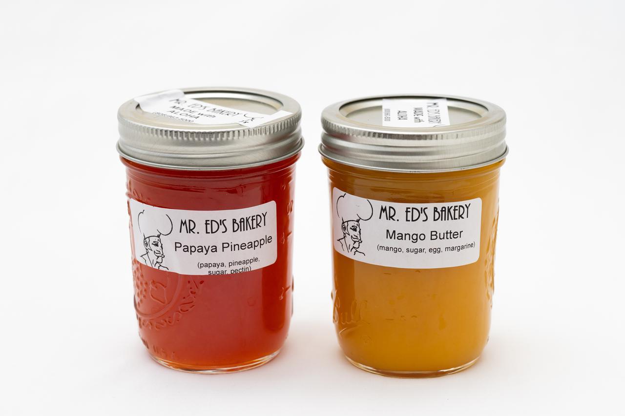 画像: ミスターエドズベーカリーのパパイヤ&パイナップル(写真左)とマンゴー&バター(写真右)
