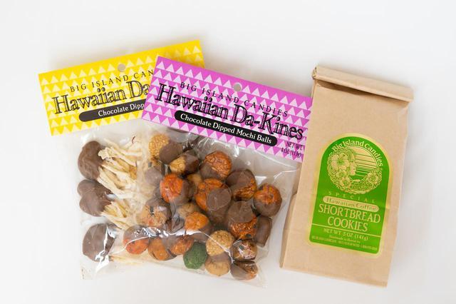 画像: ハワイアン・ダカイン・ミルクチョコレート・ディップ・イカ(写真左)、ミルクチョコレートディップ・モチボール(写真中)、ハワイアンコーヒー・ショートブレッド・クッキー(写真右)
