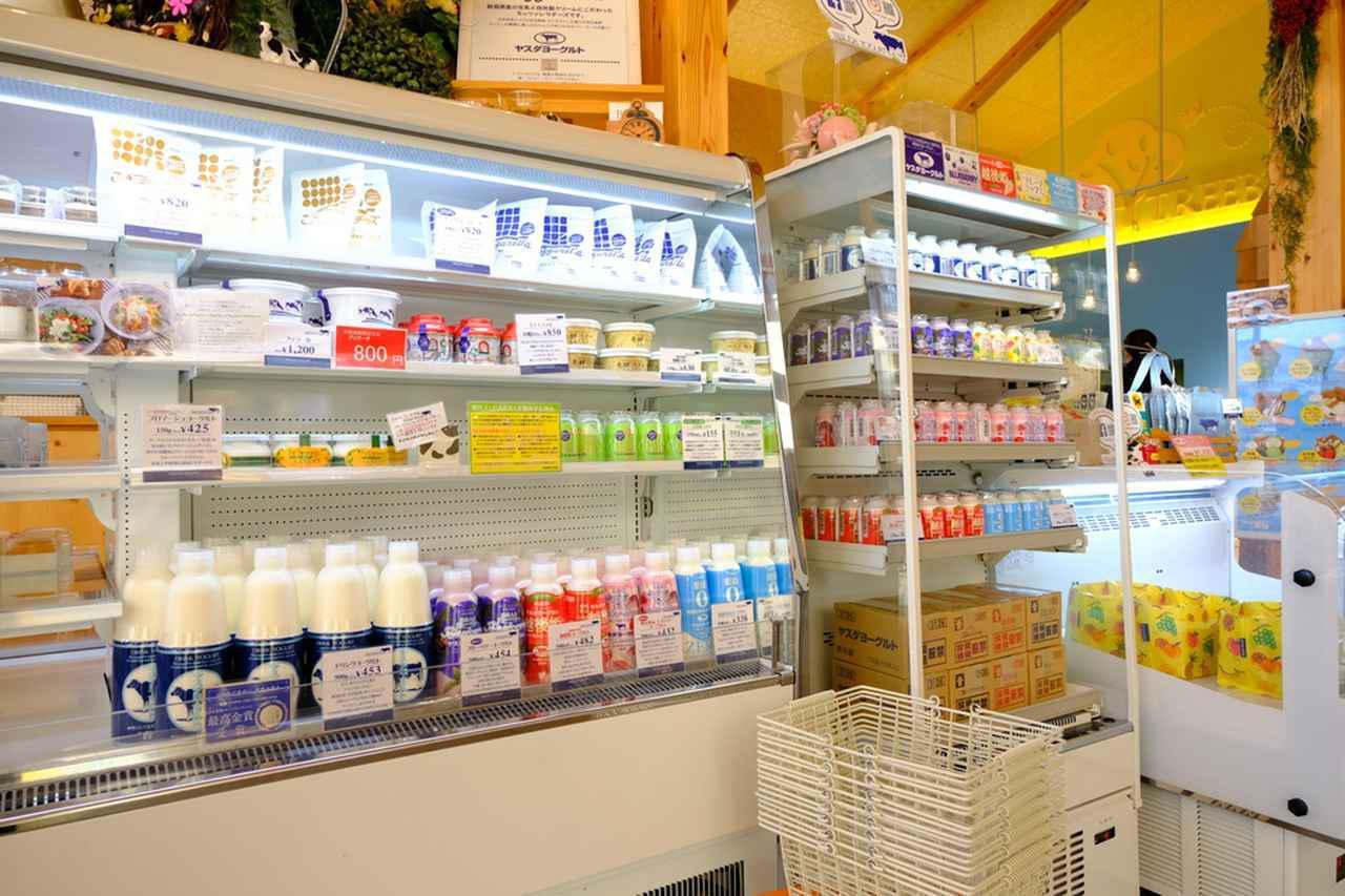 画像: 店内にはおなじみのヤスダヨーグルトが販売されています。